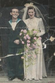 Granndma and Grandad's wedding