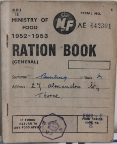 ration book closed