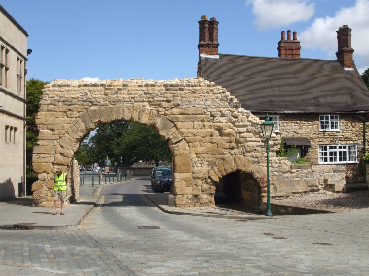 The remains of the Roman arch on Newport, Lincoln