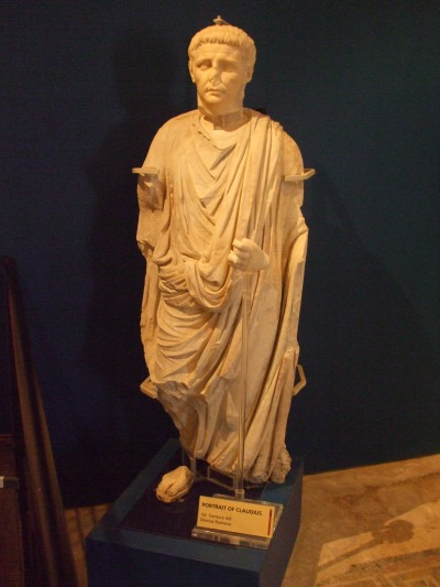 Statue thought to be of the Emperor Claudius