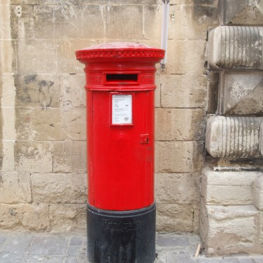 British-style post box: another reminder of British rule