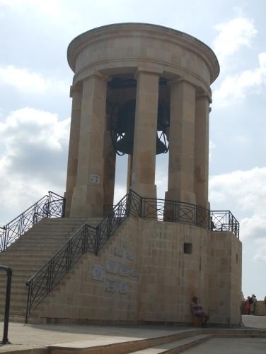 The Siege Bell: a war memorial in Valletta