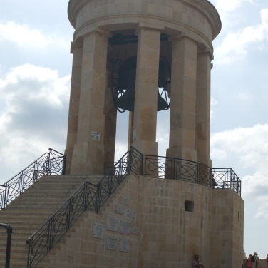 The Siege Bell: a war memorial in Valletta