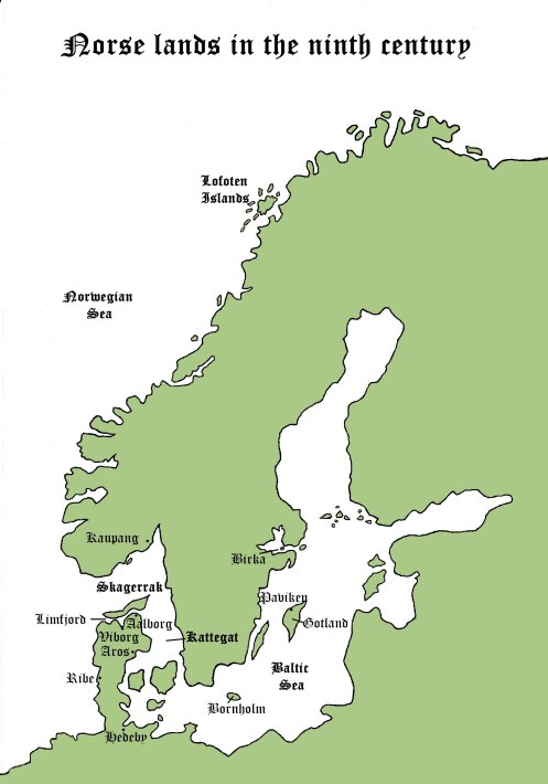 Map of norse lands