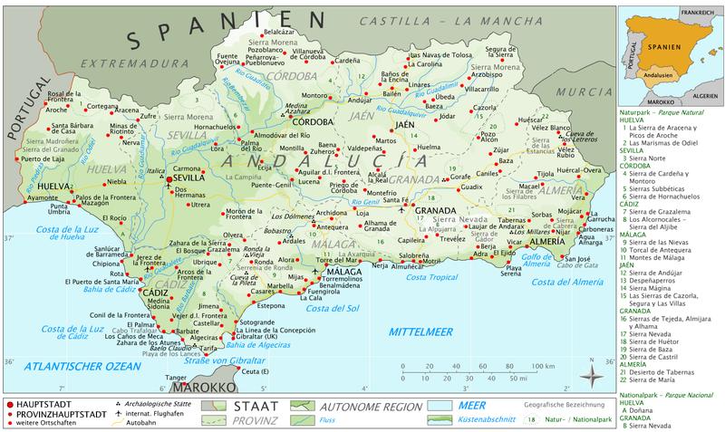 Andalusien_Karte