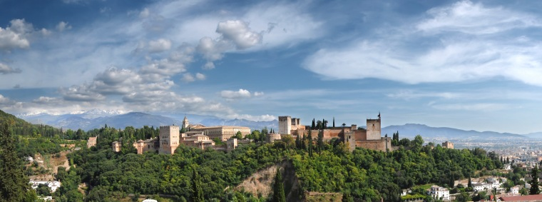 Panoramic View of Alhambra from the Albayzin. Author: Mihael Grmeh