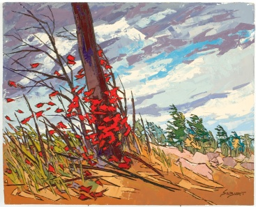 Windy day in Killarney. Painting by John Siburt. Author: Hrhpower Commons