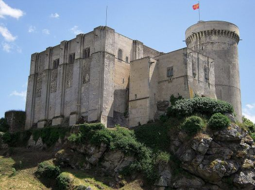 Chateau de Falaise, where Arthur was imprisoned by John. Uploaded by Ollamh. Commons