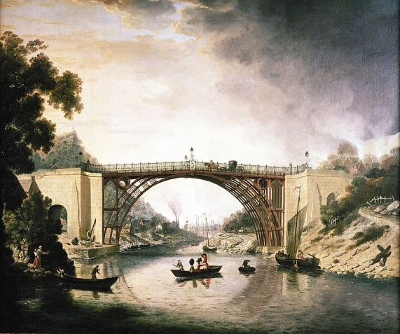 Painting of the bridge by William Williams, artist. Public Domain.