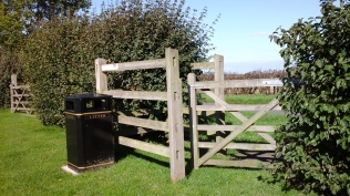 Gate into playing field