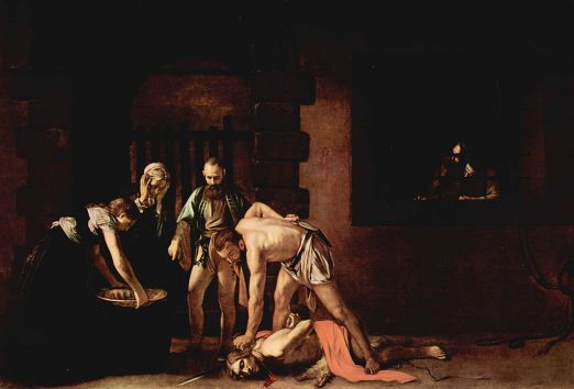 Beheading of John the Baptist by Michelangelo Caravaggio. 1608 Public Domain