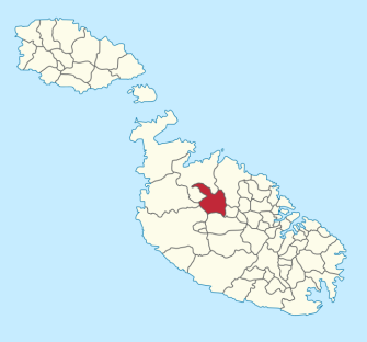 Location of local council XY (Mosta region) in Malta. Author TUBS. Commons