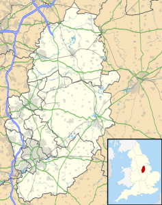 Map of Nottinghamshire, UK. Source: Ordnance Survey OpenData. Author: Nilkamion. Commons