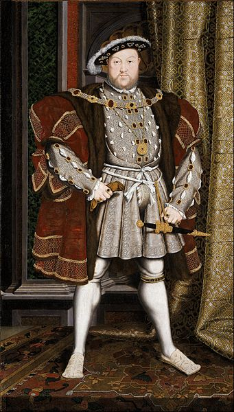 Portrait of Henry VIII by Hans Holbein the Younger, 1537-47. Public Domain