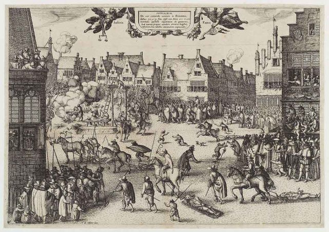 The execution of Guy Fawkes' (Guy Fawkes), by Claes (Nicolaes) Jansz Visscher, given to the National Portrait Gallery, London in 1916. Wikimedia Commons