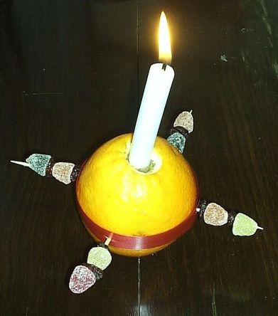 Picture of en Christingle. Author: TimmywimmyatEngloishWikimedia. Public Domain.