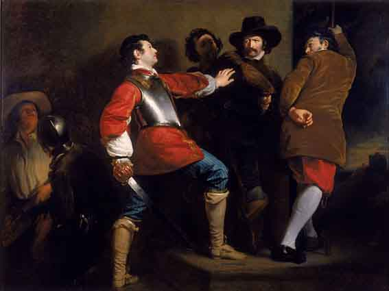 Painting of the discovery of the Gunpowder Plot and the taking of Guy Fawkes by Sir Thomas Knevet. 1823. Source: Henry Perronet Briggs - http://www.parliament.uk/gunpowderplot/children_arrest.htmWikimedia Commons