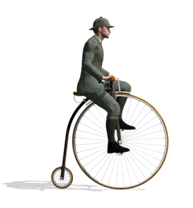 Penny Farthing, invented 1880-82. Courtesy of Pixabay
