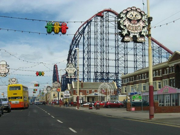 Blackpool 'Pleasure Beach'. Author Gambitek. Creative Commons