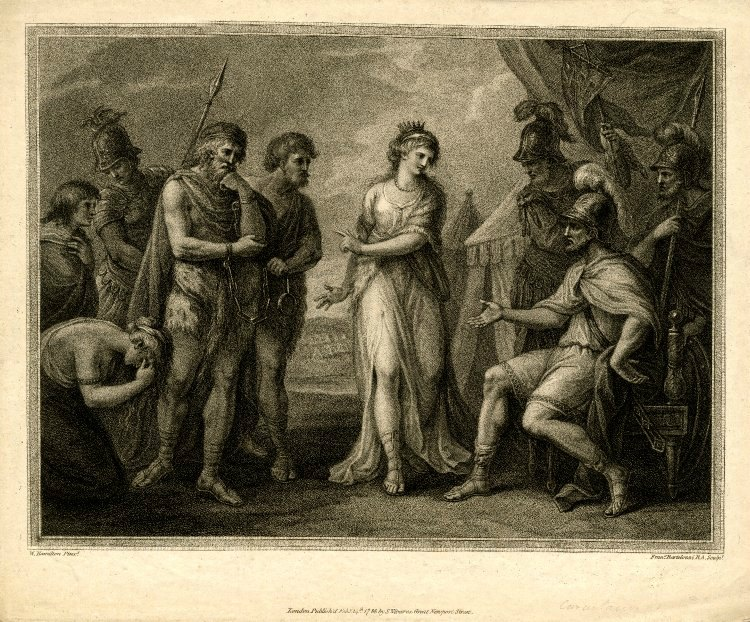 Cartimandua delivering Caractcus to the Romans