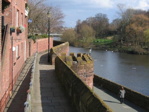 Chester's City Walls -Bridgegate to Eastgate (2)