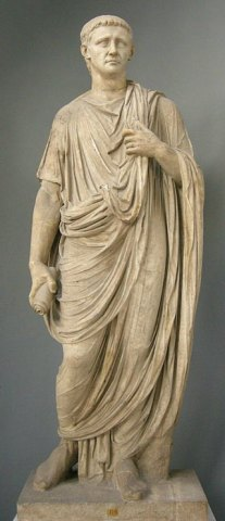 Statue of Claudius in the Vatican Museum. Author: sailko. Creative Commons
