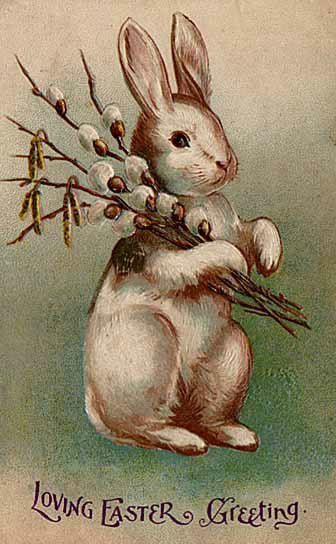 Easter postcard c early 20th century.Author: ItsLassieTime. Public Domain