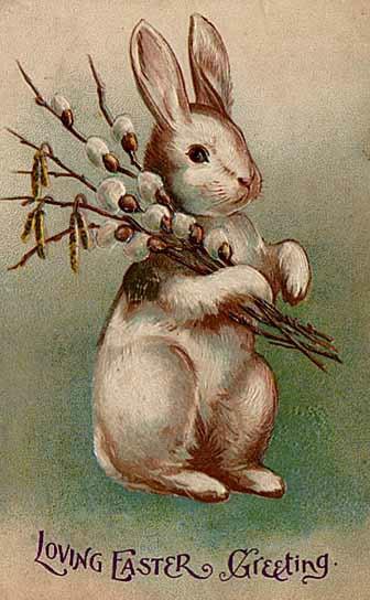 Easter postcard c early 20th century.Author: ItsLassieTime. Public Domain
