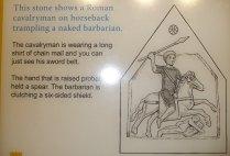 Information board at Dewa to accompany image on stone