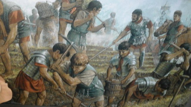 Legionaries building The Wall