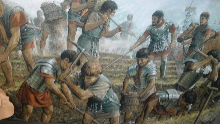 Legionaries building The Wall