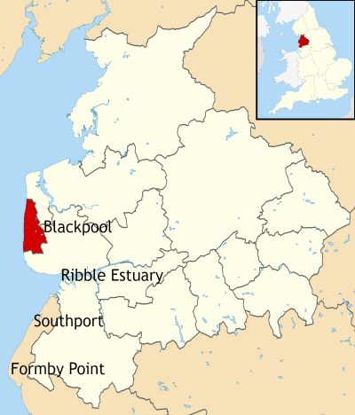 Location map of Blackpool (2)