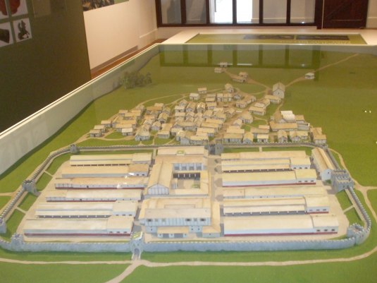 066 Model of Fort and Vicus on Entering Vindolanda