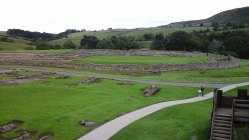 Vindolanda fort from top of reconstructed turret