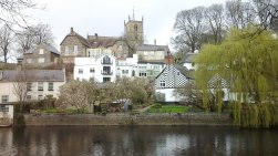 View across Nidd to Knaresborough and Church