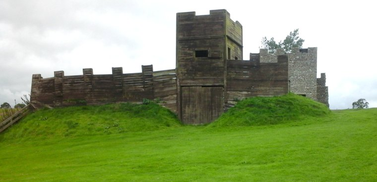 437 Wooden and stone turrets at Vindolanda