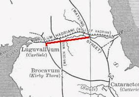 Route of the Stanegate Road.