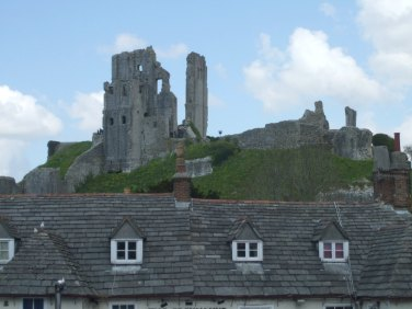 103 Corfe Castle from the the village of Corfe.