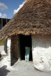 Hut doorway.