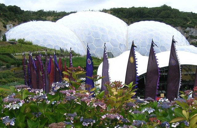 Eden Project near St. Austell, Cornwall UK.