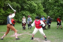 Scots' Duel with swords