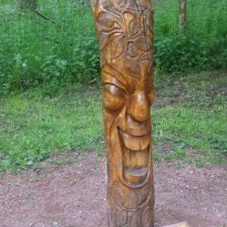 Wooden Carvings 4. Face 1 +