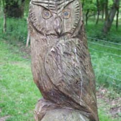 Wooden Carvings 5. Owl +