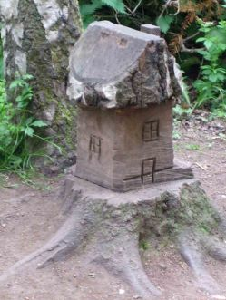 Wooden Carvings 7. House 1. +