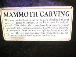 Cave carving info in Gough's cave,.