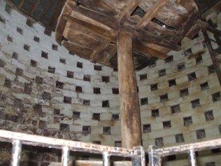 Inside the dovecote