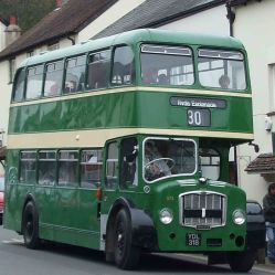 Public bus in Dunster