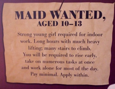 Advert for Job of Maid