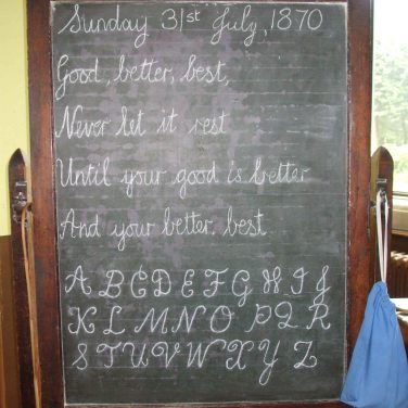 Blackboard in the Schoolroom