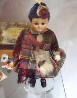 Made in Germany in 1860. Tartan was very fashionable in Victorian times, mainly because of Queen Victoria's love of Scotland